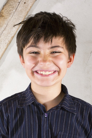 big smile: portrait of a young with a big smile Stock Photo