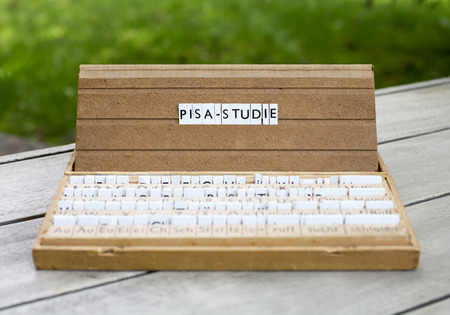 a letterbox with the german word: \Pisa-Studie\