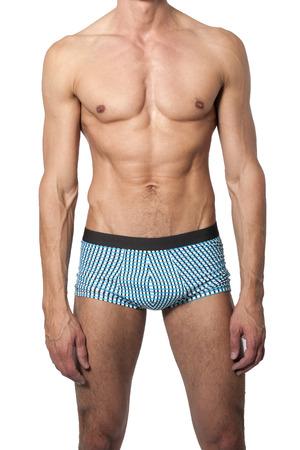 Cuerpo masculino muscular nanómetro con un traje de baño Foto de archivo - 39036578