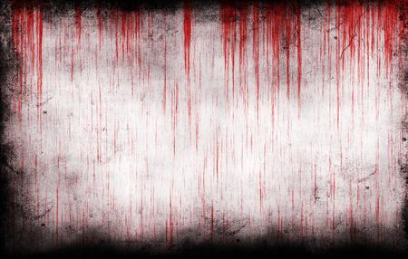 Bloedige grungy muur als achtergrond Stockfoto - 46606830