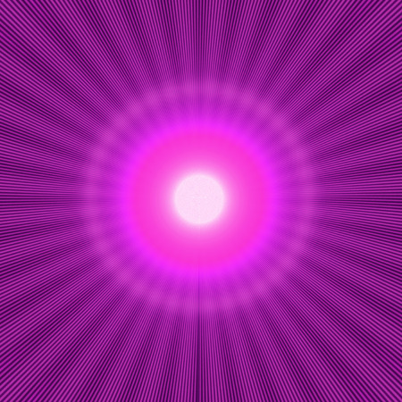purple halo effect with shiny rays and bright light in the center Stock Photo