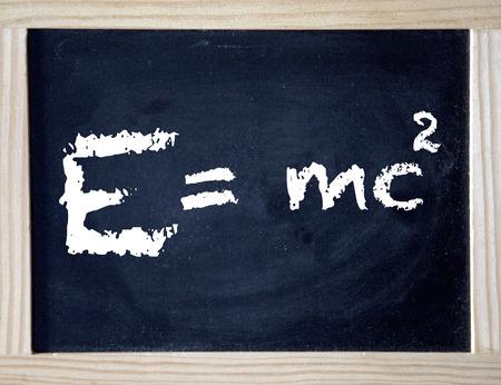 Emc , Einstein theory of relativity written on black board