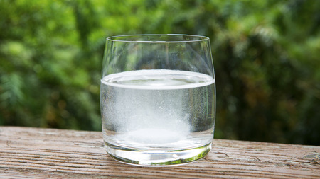 glass of water with a effervescent tablet