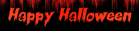 the words Happy Halloween written on bloody background