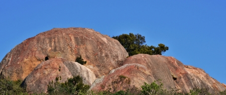 helena: Landscape with granite boulders at St Helena Bay South Africa