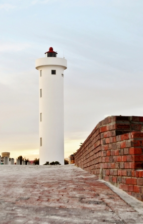 landsape: Landscape with Lighthouse on Woodbridge Island Milnerton Stock Photo