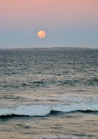 robben island: Full moon over Robben Island South Africa