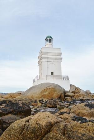 helena: Landscape with Lighthouse at Stomneuspunt St Helena Bay