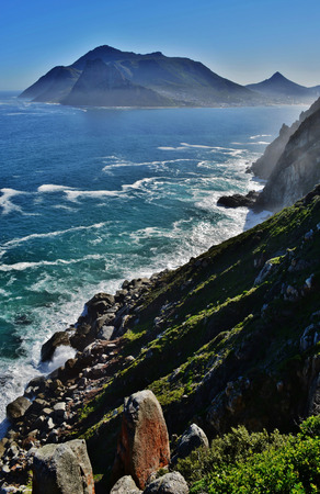 chapmans: Seascape with view from Chapmans Peak