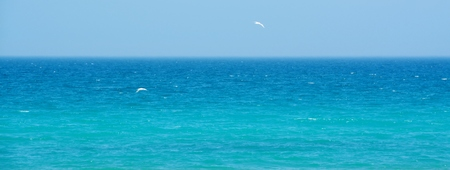 summers: Seascape with the blue Atlantic Ocean on a warm summers day Stock Photo