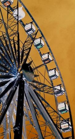 va: Ferris Wheel at VA Waterfront Cape Town Stock Photo