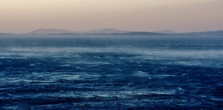 atlantic ocean: Seascape with Atlantic Ocean on a stormy morning