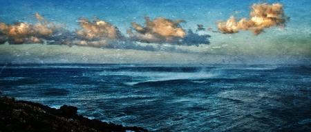 atlantic ocean: Seascape with Atlantic Ocean on a stormy morning