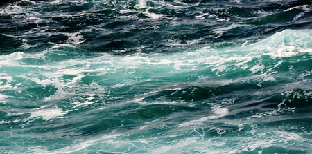 ocean waves: Seascape with turquoise Atlantic Ocean and waves
