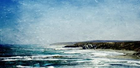rocky coastline: Landscape with the rocky coastline of Strandfontein