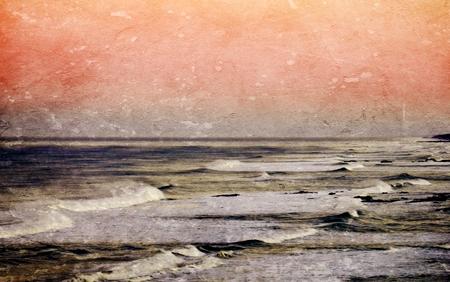 rocky coastline: Landscape with the rocky coastline of Strandfontein at sunset