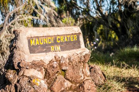 rim: Maundi Crater Rim at Kilimanjaro Editorial