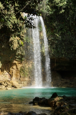 wasser: Waterfall Socoa, Domenican Republic Stock Photo