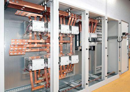 Feder telefooncentrale voor elektrische industriële controle en distributie Stockfoto