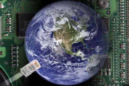 globe terrestre dessin: Terre dans le monde �lectroniques
