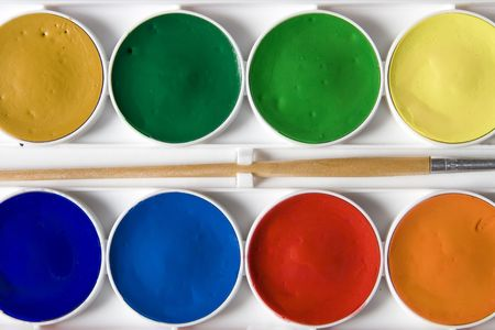 Water colors box detail Stock Photo - 5490170