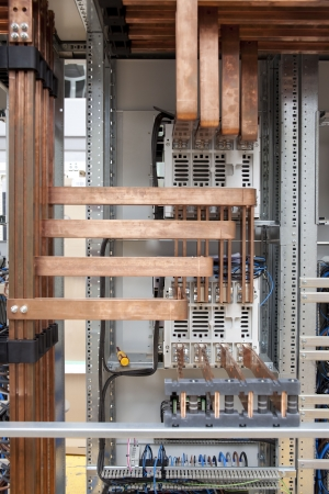 Cooper electrical panel construction detail photo