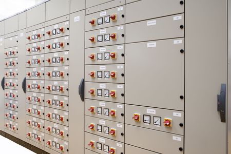 electrical panel: Electric panelboard for motors control