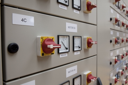 substation: Electrical panel made from cubicles