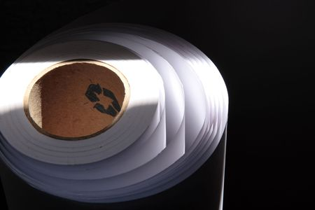 Reciclable paper roll in black and white