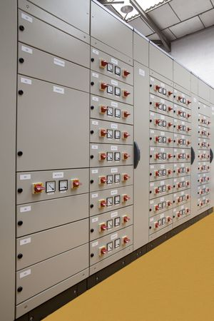 substation: Motors control center electric panel board