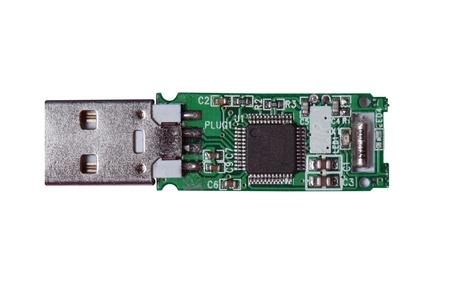 connection block: Printed circuit board usb flash drive Stock Photo