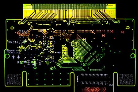 printed circuit board: �clatant de circuits imprim�s Conseil macro d�tail Banque d'images