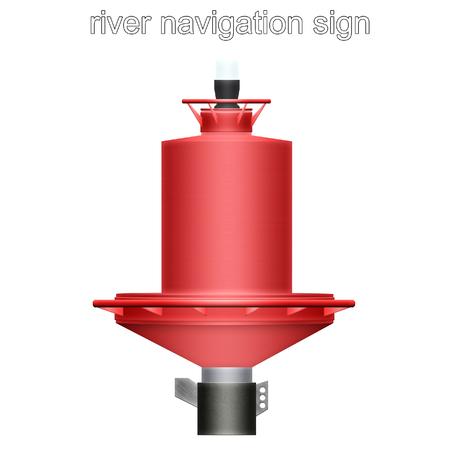 river navigation sign Stock Photo - 86572363