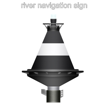 river navigation sign Stock Photo - 86572367