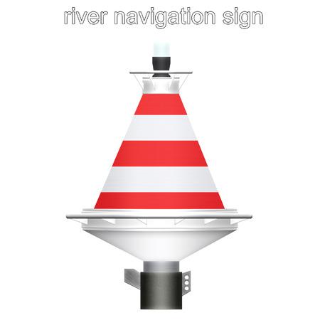 river navigation sign