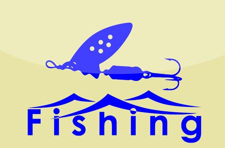A logo fishing on plain background