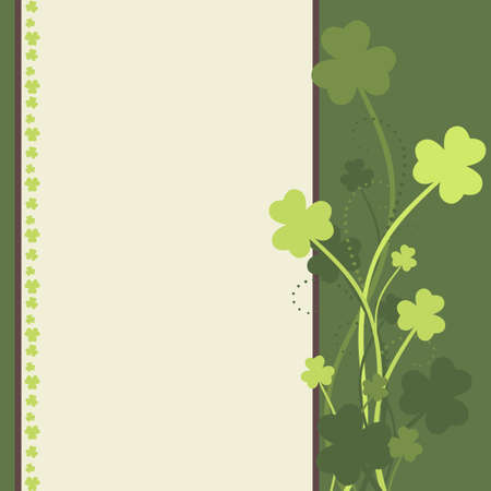 St Patrick's Day card with shamrock leaves in green colors Stock Vector - 12485294