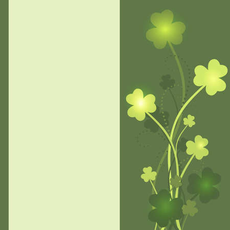 St Patrick's Day card with shamrock leaves in green colors Stock Vector - 12485299