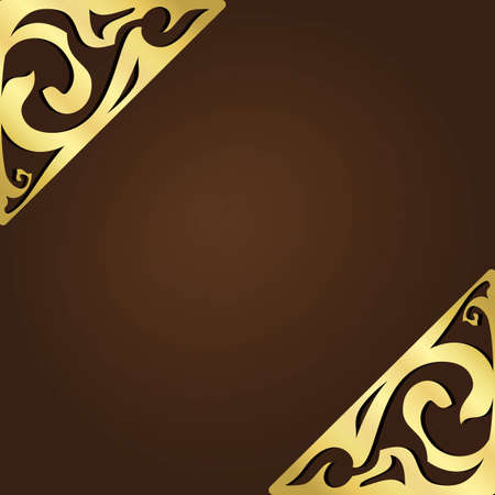 Elegant vintage frame with ornate metal corners Vector