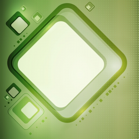 Abstract vector green backdrop with squares and place for text Vector