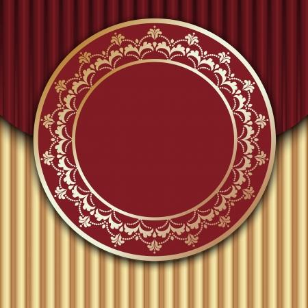 Red Vintage Frame Design. EPS 10 Vector