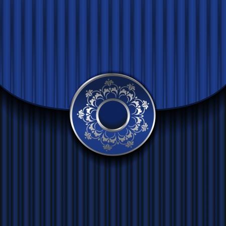 Blue Vintage Frame Design Vector