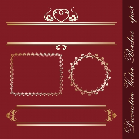 Set of decorative borders Stock Vector - 14166271