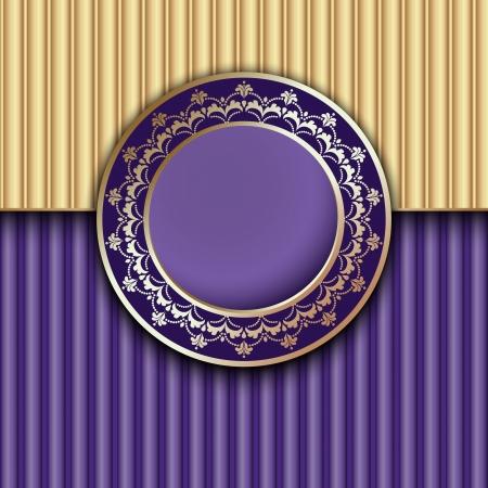 Purple Vintage Frame Design Vector