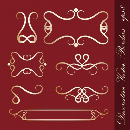 Set of decorative borders Stock Vector - 14152187