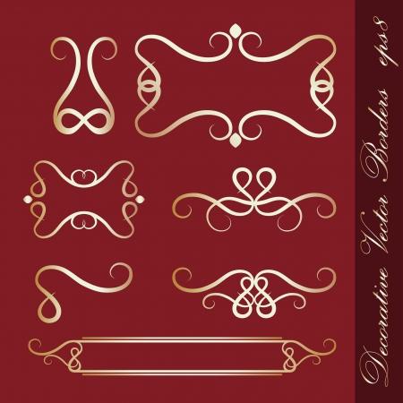 Set of decorative borders Stock Vector - 14152187