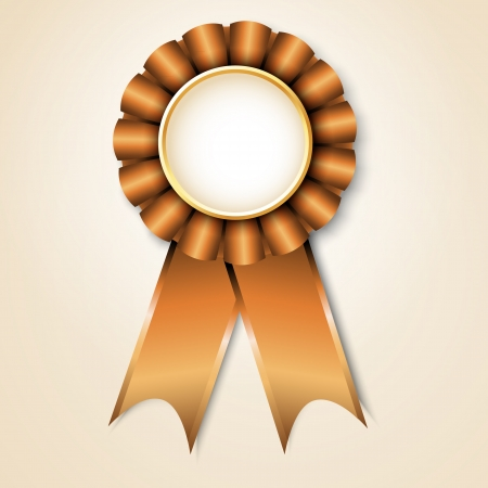 Brown vecor prize ribbon Vector