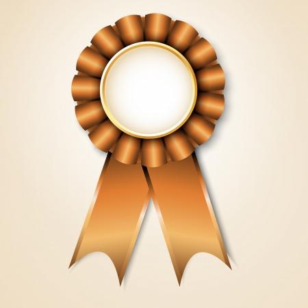 Brown vecor prize ribbon Stock Vector - 14259601