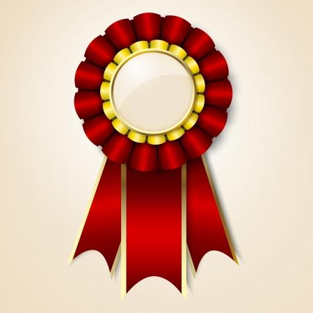 Red vecor prize ribbon Illustration