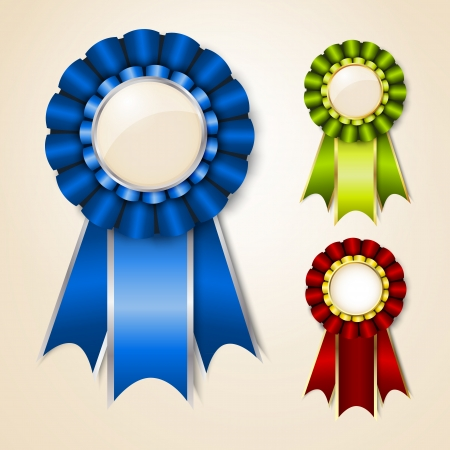 Set of vecor prize ribbons with place for text Stock Vector - 14259612